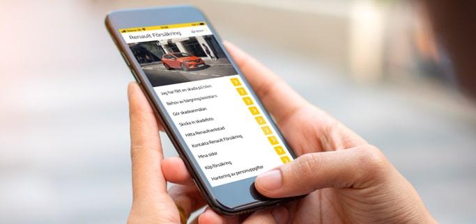 Renault Försäkring app