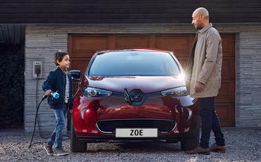 Röd Renault Zoe